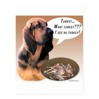 Bloodhound Turkey Post Cards