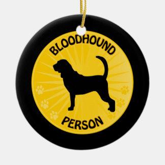 Bloodhound Xing Ceramic Ornament