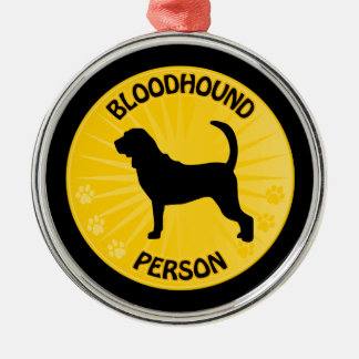 Bloodhound Xing Metal Ornament