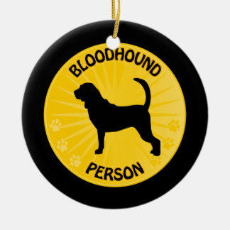 Bloodhound Xing Christmas Ornament
