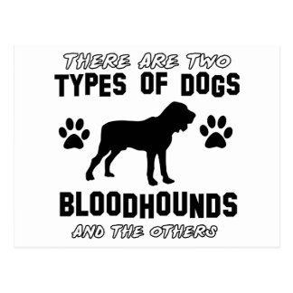 bloodhounds designs postcard