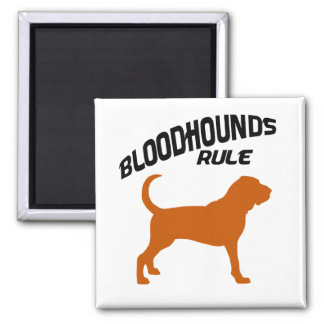 Bloodhounds Rule 2 Inch Square Magnet