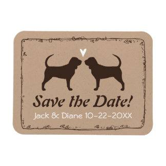 Bloodhounds Wedding Save the Date Rectangular Photo Magnet