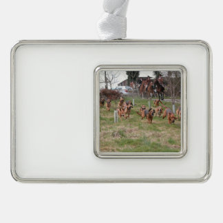bloodhounds working christmas ornament