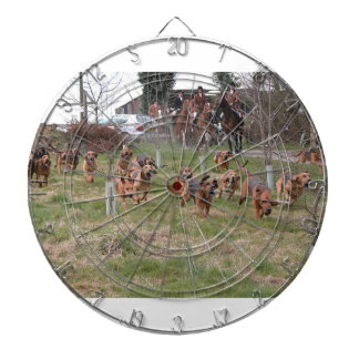 bloodhounds working dartboard