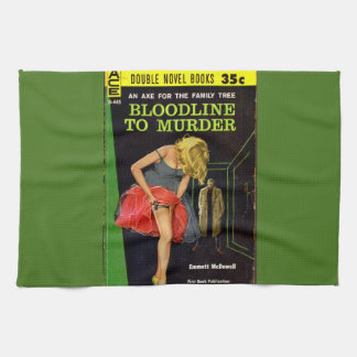 Bloodline to Murder pulp cover Towel