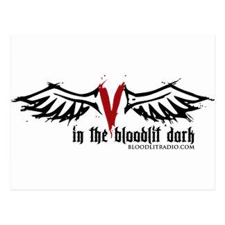 Bloodlit Radio: In the Bloodlit Dark Postcard