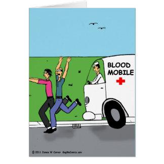 """Bloodmobile "" Tarjeta De Felicitación"