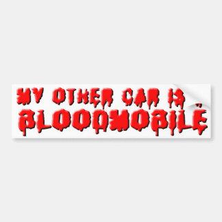 BLOODMOBILE WHITE BUMPER STICKER