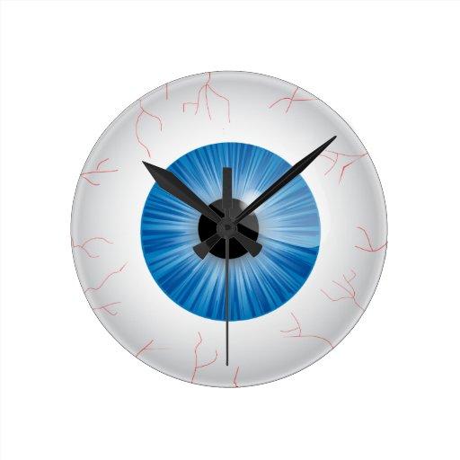 Bloodshot Blue Eye Wall Clock