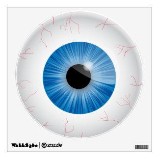 Bloodshot Blue Eyeball Wall Sticker