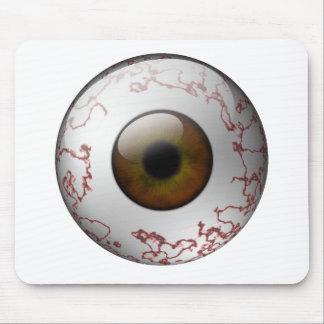 Bloodshot Brown Eye Mouse Pad