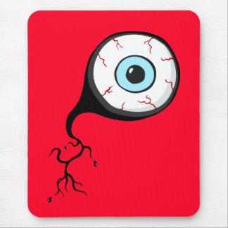 Bloodshot Eye Ball Funny Cartoon mousepad