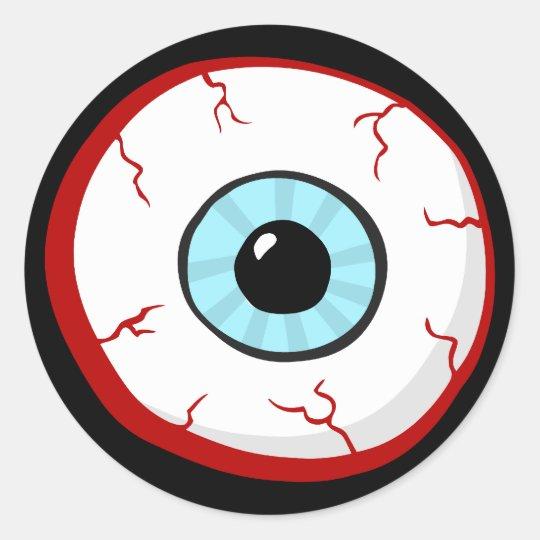 bloodshot eye ball funny cartoon stickers zazzle com