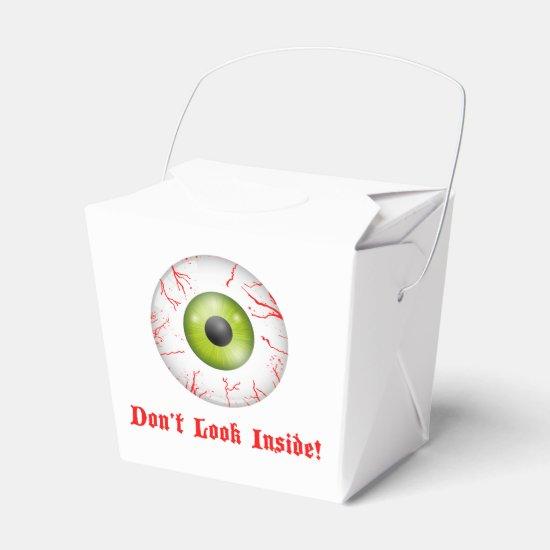 Bloodshot Eye Halloween Party Take Out Box