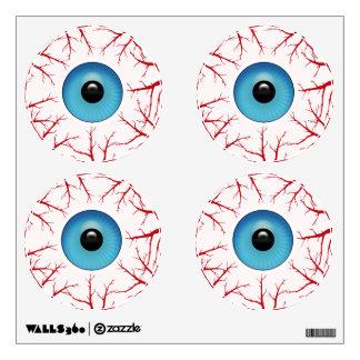 Bloodshot Eyeballs Halloween Creepy Wall Decal