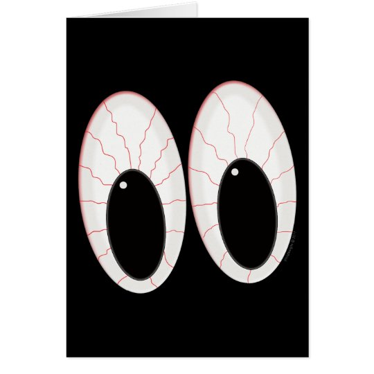 Bloodshot Eyeballs Halloween Eyes Card