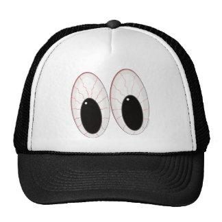 Bloodshot Eyeballs Halloween Eyes Mesh Hat