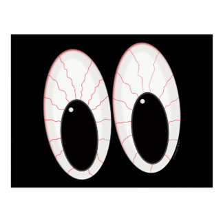 Bloodshot Eyeballs Halloween Eyes Post Cards