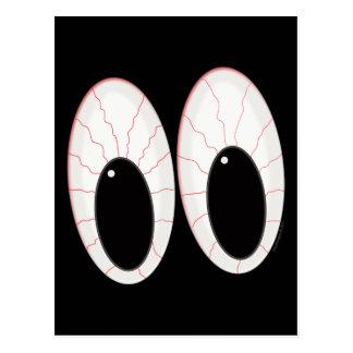 Bloodshot Eyeballs Halloween Eyes Postcard