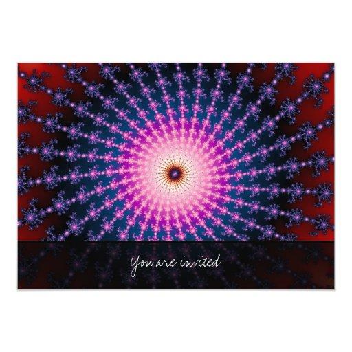 Bloodshot Fractal Swirl 5x7 Paper Invitation Card