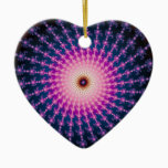 Bloodshot Fractal Swirl Ceramic Ornament