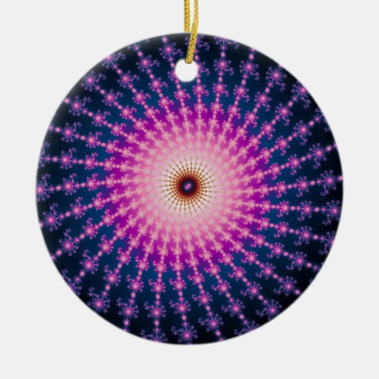 Bloodshot Fractal Swirl Ceramic Ornament