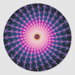 Bloodshot Fractal Swirl Classic Round Sticker