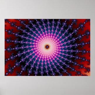 Bloodshot Fractal Swirl Poster