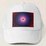 Bloodshot Fractal Swirl Trucker Hat