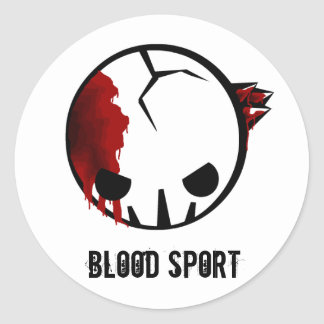 BloodSport: Bullet to the Brain Classic Round Sticker