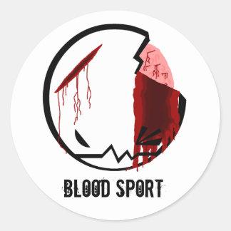 BloodSport: CRUJIDO Pegatina Redonda