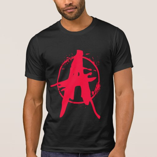 Bloodstain Graffitti Anarchy Destroyed Shirt