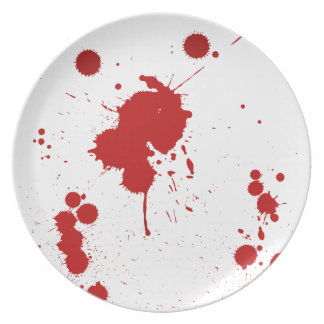 Bloodstained Funny Halloween Plate