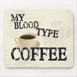 Bloodtype Coffee Mouse Pad