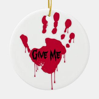 Bloody 5 ceramic ornament