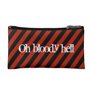 Bloody bag makeup bags