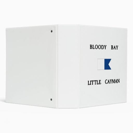 Bloody Bay Little Cayman Alpha Dive Flag Binders