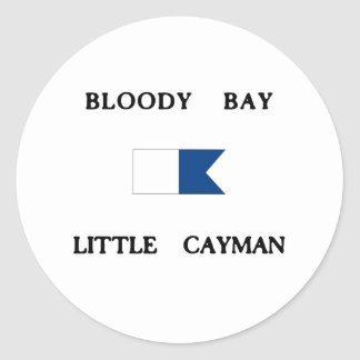 Bloody Bay Little Cayman Alpha Dive Flag Classic Round Sticker