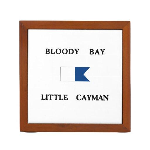Bloody Bay Little Cayman Alpha Dive Flag Desk Organizer