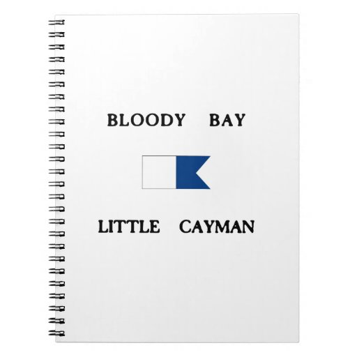 Bloody Bay Little Cayman Alpha Dive Flag Note Books