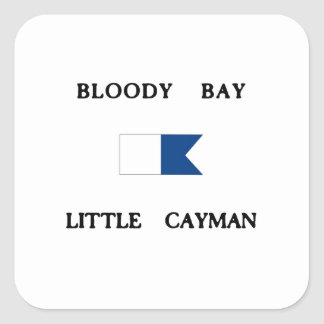 Bloody Bay Little Cayman Alpha Dive Flag Square Sticker