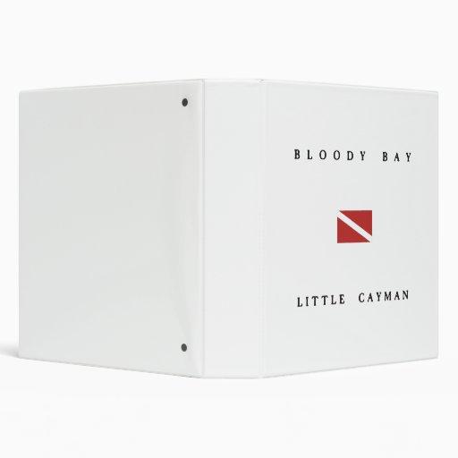 Bloody Bay Little Cayman Scuba Dive Flag Binders