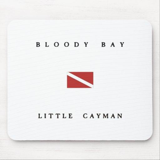 Bloody Bay Little Cayman Scuba Dive Flag Mouse Pads