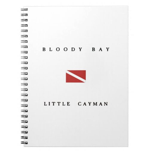 Bloody Bay Little Cayman Scuba Dive Flag Spiral Notebook