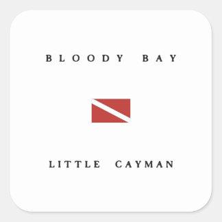 Bloody Bay Little Cayman Scuba Dive Flag Square Sticker