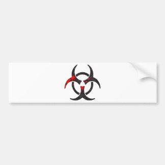 Bloody Biohazard Symbol Car Bumper Sticker