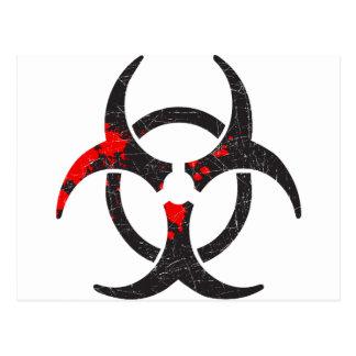 Bloody Biohazard Symbol Postcard