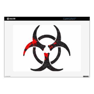 """Bloody Biohazard Symbol Skin For 15"""" Laptop"""