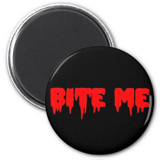 "Bloody ""Bite Me"" Refrigerator Magnet"